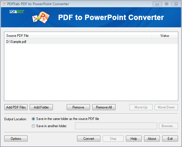 Convert PDF to PowerPoint.
